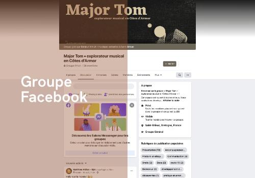 menu groupe Facebook