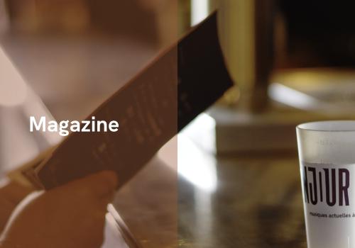 Menu magazine