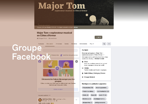 menu groupe Facebook